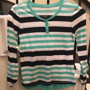 Girls Justice striped top long sleeve